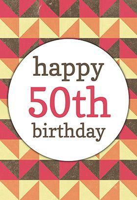 50th birthday cards printable