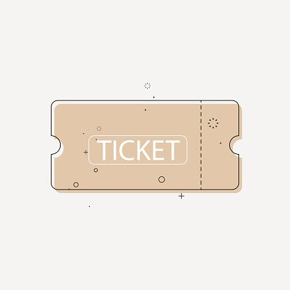 Ticket Icon In Trendy Flat Style Vector Illustration Create Logo Design Vector Illustration Business Graphics