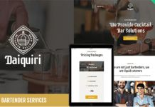 Download Free Daiquiri v1.0 – A Bartender Services & Catering WordPress Theme -