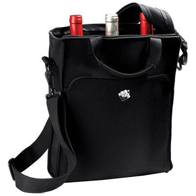 Wine Enthusiast 3 Bottle Neoprene Wine Tote Carrier Wine Tote Bag Wine Purse Wine Tote