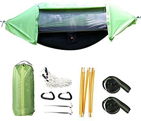 Amazon Com Imissiu 3 In 1 Hammock Tent And Camping Hammock Shelter Mosquito Net Outdoor Hammock Travel Bed Windp Outdoor Hammock Hammock Camping Hammock Tent