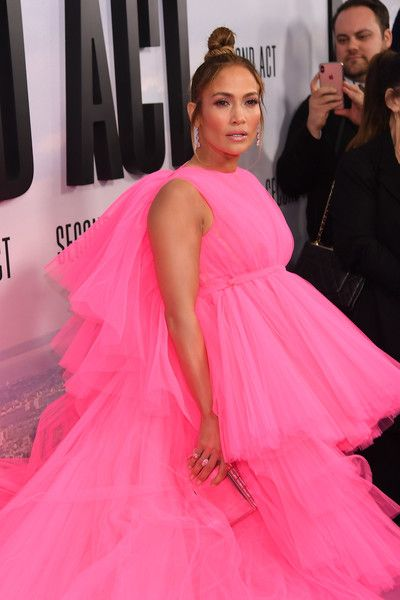 Jennifer Lopez attends the world premiere of 'Second Act' at Regal Union Square Theatre.