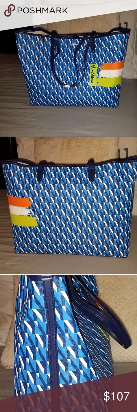 Sam Edelman Isalyn Printed Tote Colorful NWT Sam Edelman printed carry all tote in coated canvas! 14 1/2