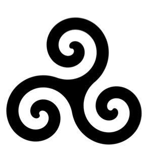 Aufnäher Triskele Patch Triskell Tribal Kelten Gothic Mystic