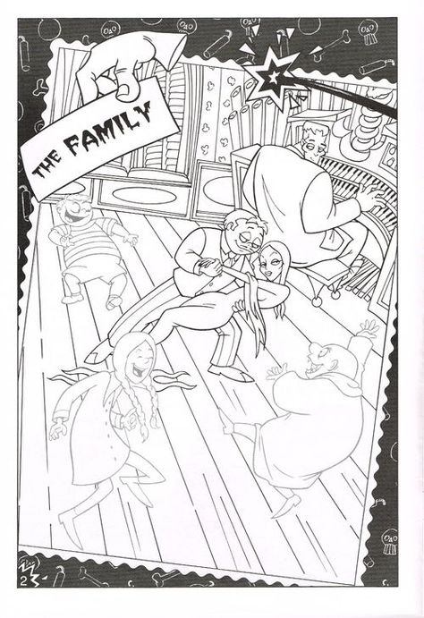 Golden The Addams Family Sticker Fun Family Coloring Pages Coloring Pages Family Coloring