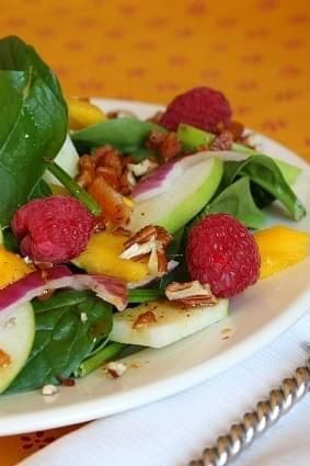 Baby Spinach Salad W Warm Citrus Bacon Vinaigrette Recipe Recipe Baby Spinach Salads Vinaigrette Recipes Spinach Salad