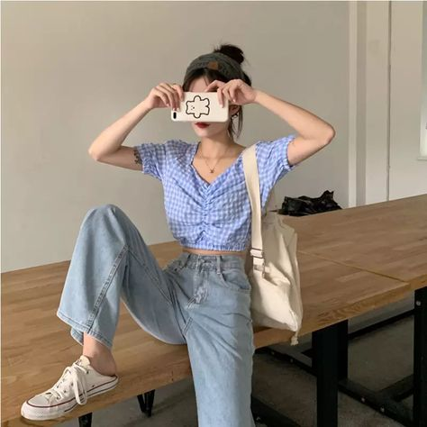 13.37US $ 41% OFF Women Jeans Show Thin Casual Pants Jean Female Trousers Wide Denim Skinny Pants All match Simple Full length Jeans    - AliExpress