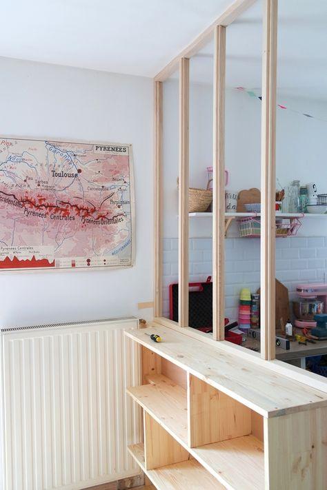 DIY verrière/étagère