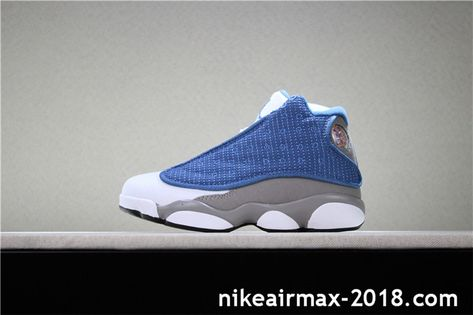 daf6afdd27d6e2 Cheap Kids Air Jordan 13 Blue Gray White Youths Basketball Shoes ...