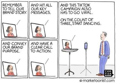 Clubhouse Hype and Brands on Social Media | Marketoonist | Tom Fishburne
