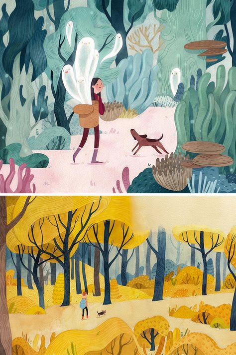 Venture Into the Woods Through the Fantastical Illustrations of Vivian Mineker