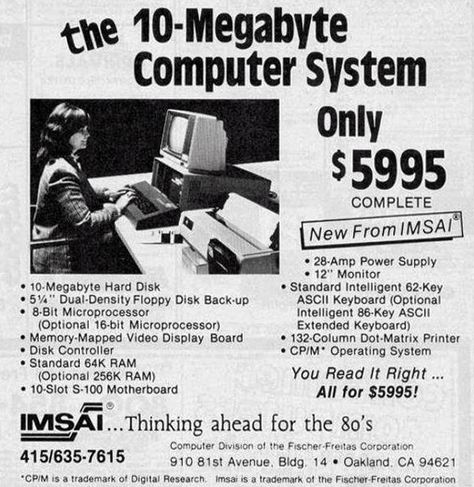 1977: 10MB Computer – only $5995