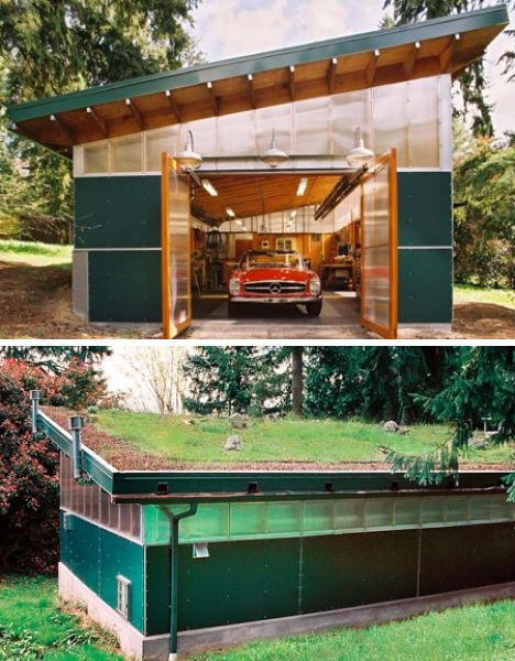 Green_Roof_Workshop_View_from_West1 1100x723   House   Pinterest    Green Roofs, Architects And Garage Workshop