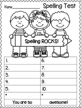 Spelling Test FREEBIES!  Back to School Edition!!