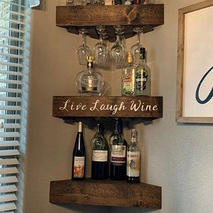 Wall Wine Rack Corner Shelf