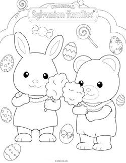 Http Www Kids N Fun Com Coloringpages Calico Critters Family Coloring Pages Easter Coloring Pages Puppy Coloring Pages