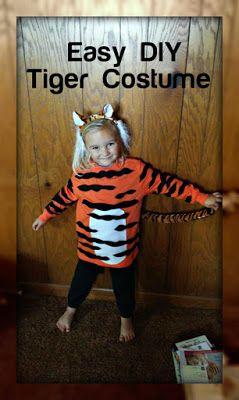 Easy Diy Kids Tiger Costume In 2019 Tiger Costume Tiger