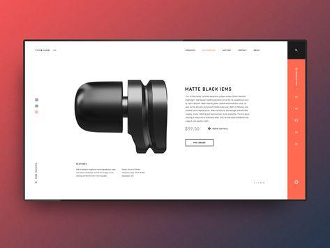 Titan IEMS - Product page concept