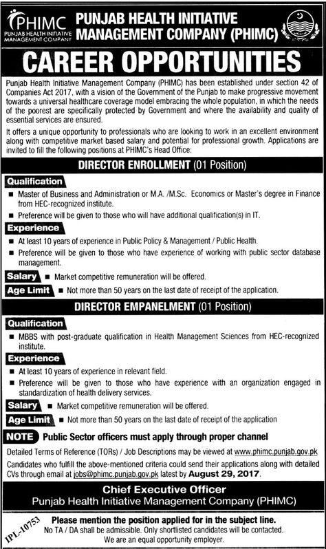 LTC Lahore Transport Company Jobs 06 Aug 2017 Apply Online http - chief executive officer job description