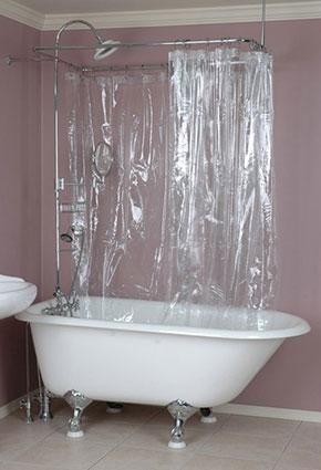 Finding Clawfoot Shower Curtains Tub Bathroom