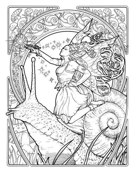 Art Deco Coloring Book Google Search Coloring Books Coloring Pages Fairy Coloring Pages
