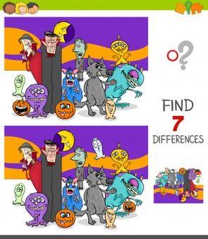 Ilustracion De Dibujos Animados Del Juego De Diferencias Para Ninos Vector Premi En 2020 Juegos De Diferencias Ilustracion Conceptual Ilustracion De Dibujos Animados