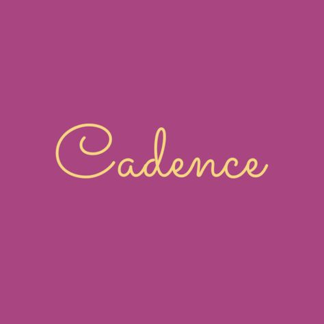 Cadence - Musical Baby Names That'll Have Your Little One Hitting All the High Notes - Photos