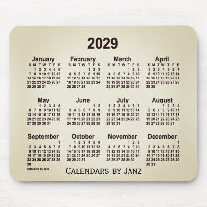 2029 San Telmo Smoke Calendar By Janz Mouse Pad Zazzle Com