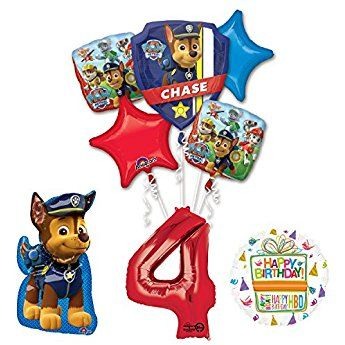 The Ultimate Paw Patrol 4th Birthday Party Supplies And Balloon