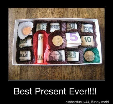 21 Surprisingly Fun Ways To Give Cash As A Gift | Forrest gump Chocolate and Box  sc 1 st  Pinterest & 21 Surprisingly Fun Ways To Give Cash As A Gift | Forrest gump ... Aboutintivar.Com