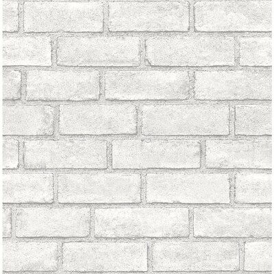 Scott Living 30 75 Sq Ft White Vinyl Textured Brick 3d Self Adhesive Peel And Stick Wallpaper Lowes Com In 2021 Peel And Stick Wallpaper Textured Brick Wallpaper Brick Wallpaper