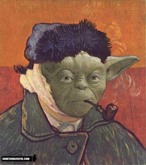 art mashup- Yoda Gogh