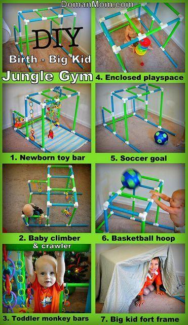 DIY Geburt für Big Kid – Mehrzweck Dschungel Gym Tutorial
