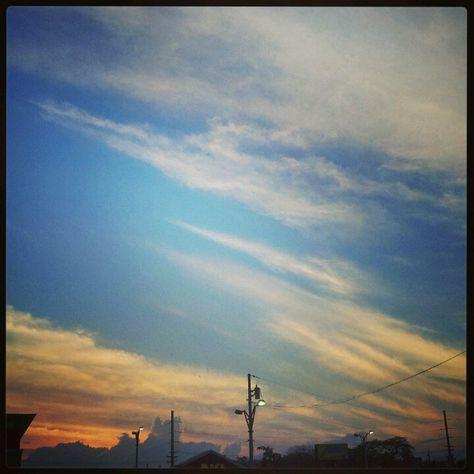 El matiz en el Cielo! Por el atardecer del 12/03/13