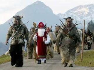 Sinterklaas the generous gift giver and pantheic krampus | santa ...