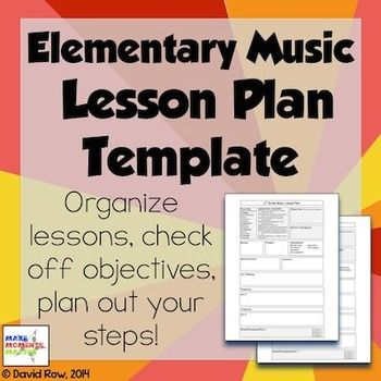 Elementary Music Lesson Plan Template Music Pinterest - music lesson plan template