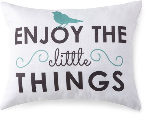 JCP HOME JCPenney HomeTM Enjoy The Little Things Decorative Pillow Beauteous Jcp Decorative Pillows