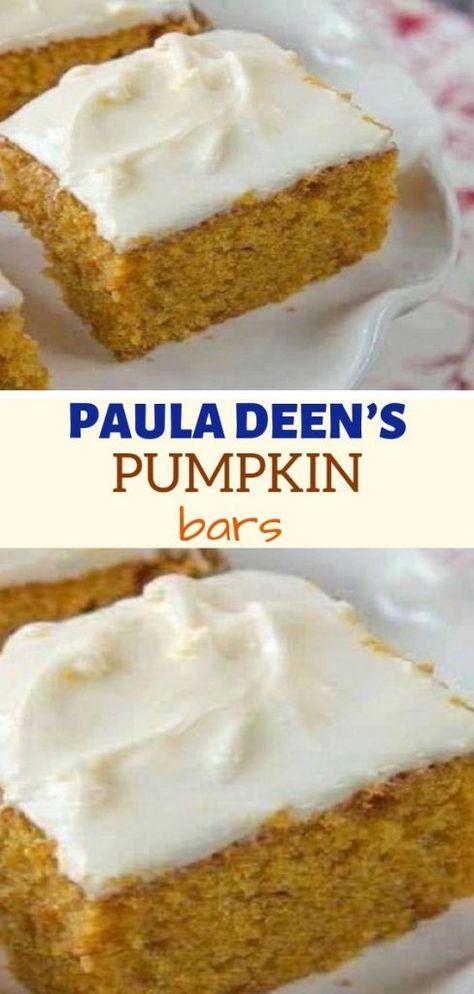 You will need: 4 eggs 1 cups granulated sugar 1 cup vegetable oil 1 ounce) can pumpkin puree 2 cups sifted all-purpose flour Paula Dean Pumpkin Bars, Pumpkin Pie Bars, Pumpkin Dessert, Pumpkin Pumpkin, Pumpkin Puree, Paula Deen Pumpkin Cheesecake, Paula Deen Apple Pie, Pumpkin Carving, Pumpkin Cheesecake Bars