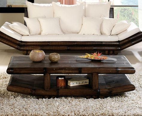 Table Basse Rectangulaire Bambou Wenge Tao Table Basse Rectangulaire Table Basse Mobilier De Salon