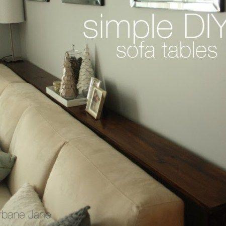 Simple Diy Sofa Tables Diy Sofa Table Diy Sofa Decor