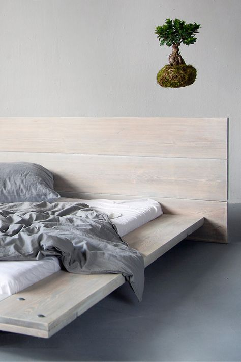 Bett Cudos White Wash In 2020 Industriedesign Mobel Bett Modern