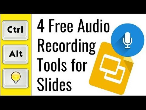 Control Alt Achieve: 4 Free and Easy Audio Recording Tools for Google Slides Computer Lessons, Technology Lessons, Computer Lab, Google Classroom, Math Classroom, Smart Board Lessons, Google Tricks, Teaching Tools, Stem Teaching