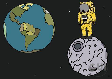 Moon man ilustrator