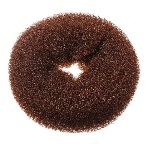 1 Piece Hair Styling Mesh Chignon Bun Maker Brown Small