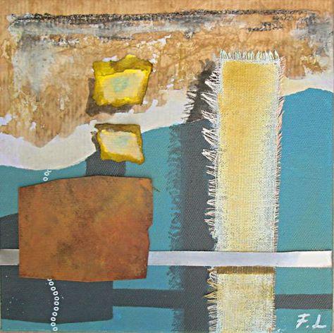 Florence Lefevre Peinture Acrylique Sur Toile Tissus Papier Etc