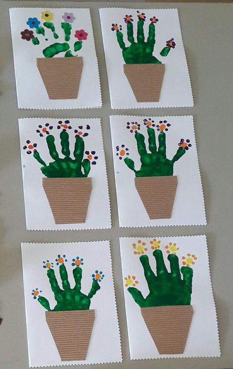 Carte Pot De Fleurs Ps Manualidades Para Niños Artesanías