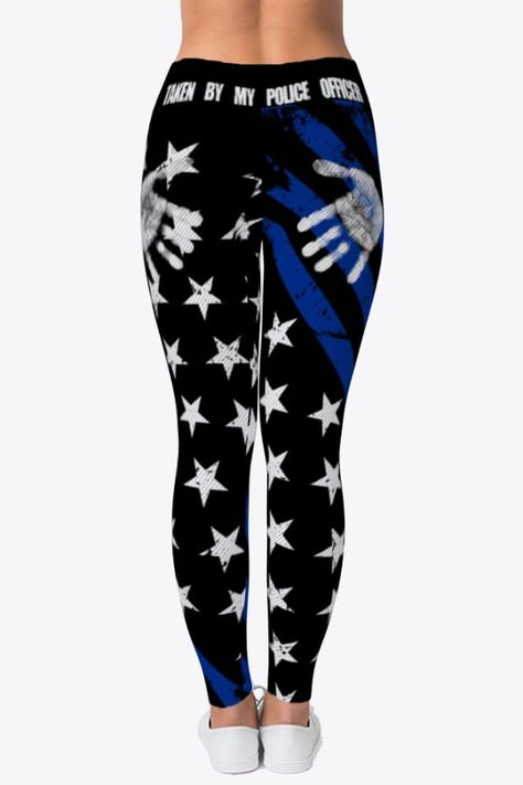 Taken By My Police Officer - Cool Police Officer Leggings For Wife | Girlfriend - Police Officer Life Leggings - Police Officer's Wife Anniversary Gifts - Police Officer's Girlfriend Birthday Gifts #policeofficer #policeman #LEO #thinblueline #gun #handcuffs #badge #cop #lawenforcement #bluelivesmatter #BeeTeePoliceOfficer Taken By My Police Officer