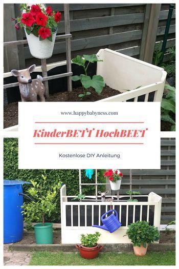 Hochbeet Aus Kinderbett Kostenlose Diy Anleitung Auf Deutsch Basteln Fur Kinder Garten Pflanzen U Diy Anleitungen Bepflanzung Anleitungen