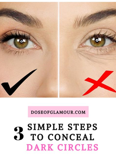 dark circle How to conceal dark circles. Best ways to conceal dark spots and under eye bags. You won't want to miss there beauty tips! Cover Up Dark Circles Under Eyes, Dark Circles Makeup, Dark Eye Circles, Covering Dark Circles, Concealer For Dark Circles, Color Correct Dark Circles, Makeup Hacks For Dark Circles, Under Eye Makeup, Makeup Tricks