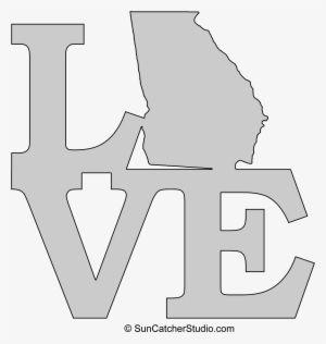 Georgia Love Georgia Outline Georgia Map Outline